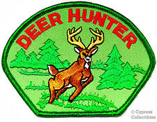DEER HUNTER EMBROIDERED IRON-ON HUNTING PATCH new BUCK EMBLEM