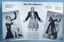 1950-60s Simpson's Humanettes Marionette Stage Show 2 Puppet Advertising Pieces