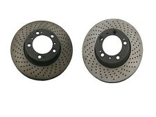 NEW Porsche 911 Boxster Cayman 99-12 Set of 2 Front Disc Brake Rotors OPparts