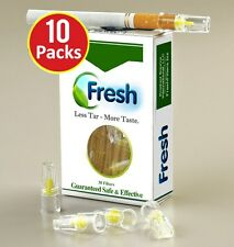 FRESH FILTERS 10 PACKS = 300 Filters Best Priced, Best Value.  Get the Nic Out!