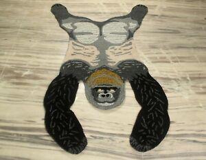 Hand Tufted Gorilla Skin Wool Carpet Anti Slip Anyroom Cotton Backing Rug 3x5 Ft
