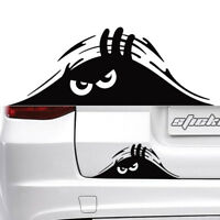 2PC Black Peeking Monster for Cars Vans Walls Funny Sticker Graphic Vinyl Decal