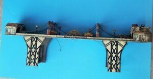 "VINTAGE MARX ""BUSY BRIDGE"" TIN LITHO WIND-UP TOY U.S.A. 1930'S LOUIS MARX Co."