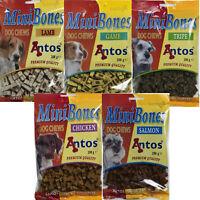 Antos Mini Bones Dog - Puppy Training Treats 5 x 200g bags Different Flavours