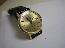 OMEGA GENEVE AUTOMATIC DATE 18 K SOLID YELLOW GOLD 1974 WATCH