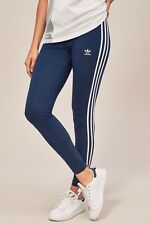 Adidas Originals Women 3 Stripes Navy Leggings Size UK 6, 8, 10, 18 New (829)