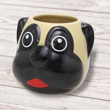 Pug Mug  Dog Head Shaped, novelty animal gift, secret Santa, Christmas PUG003