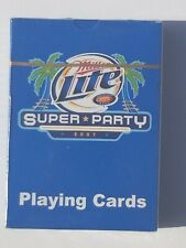 2007 Miller Lite Super Party Playing Cards Colts Vs. Bears