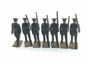 Britains 1538 Territorial Army 1 Officer & 6 Infantry VERY RARE
