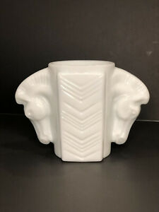Vintage MacBeth Evans Horsehead Vase Mustard Jar Shaving Mug Milk Glass