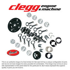 FORD 302-331 BAL. SCAT STROKER KIT Forged(Dish)Pist., I-Beam Rods, Forged Crank