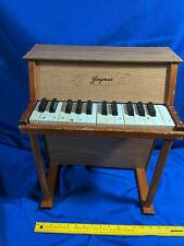 Vintage Jaymar Toy Kids Piano Mid Century 1940s-50s Wood Upright 25 Key LARGE