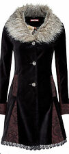 Joe Browns Mysterious Velvet Coat BRAND NEW Fur REDUCED from £89.95!!! Size 16!!