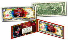 YEAR of the DRAGON - Chinese Zodiac Official $2 U.S. Bill RED POLYCHROME Edition