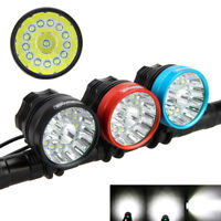 Vastfire 50000LM XML T6 14x LED HeadLight  Bicycle Bike Lamp Hunting flashLight