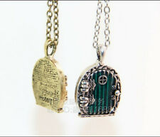 Lord of the Rings Hobbit Door Locket Necklace - Lotr Jewelry