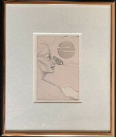 Framed Original Portrait, Colored Pencil Drawing, by Navajo Artist Cheryl Joe