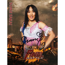 More details for official roh ring of honor - sumie sakai : final battle 2019 8x10 *hand signed*