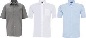 School Uniform Boys Twin Pack Short Sleeve Shirt