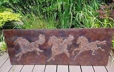 Altes Wand Relief  Pferde Holz nach Xu Beihong Vintage Wall Relief Horses 130*50