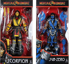 Mortal Kombat ~ 7-INCH SCORPION & SUB-ZERO DELUXE ACTION FIGURE SET ~ McFarlane