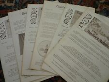 6 lot DOODLER'S DISPATCH Leather Craft Tooling Patterns & Instructions 1964/65