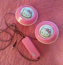 HELLO KITTY Sanrio SPEAKERS Aux Cable Battery Included Mp3 Phone Computer SG