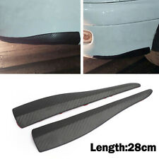 2pcs 28cm Rubber Car Front Rear Bumper Lip Anti-collision Strip Carbon Fiber A13