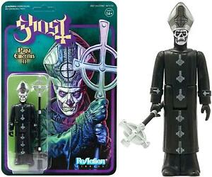 Ghost Papa Emeritus II Reaction Figure Grucifix Collectible Articulated Super7