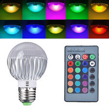 RGB LED Lamp 15W E27 Color Changing Light Bulb 85V 265V With Remote Control