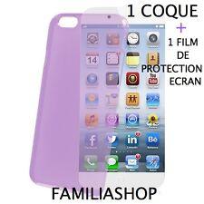 Housse étui pochette coque violette iphone 6 4.7 + 1 film de protection écran