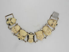 "VINTAGE 80s CHIC RUNWAY MARC JACOBS? BRACELET TOSHIKANE ""GODS OF GOOD FORTUNE"""