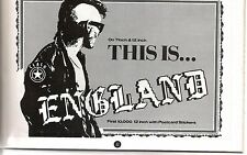 The CLASH This is England 1985 UK magazine ADVERT/clipping 8x6 inches