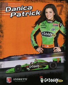 "2011 INDY 500 DANICA PATRICK USA ANDRETTI AUTOSPORT INDYCAR 8""X10"" HERO CARD !"