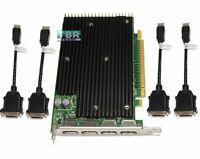 Nvidia Quadro NVS 450 512mb PCI-e DisplayPort Video Graphics Card 4 monitor