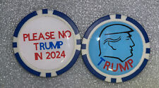 DONALD tRUMP POKER CHIP - BALL MARKER - SIGNED  ***FREE S/H***