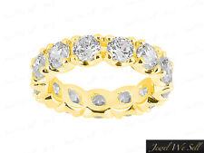 1.9CT Round Cut Diamond U-Prong Eternity Wedding Band Ring 14k Yellow Gold G SI1