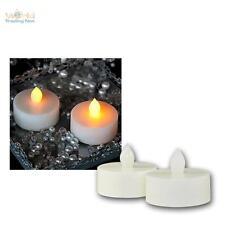 2er Set LED Teelichter Extra GROSS, flackernd Teelicht elektrisch Kerze Kerzen