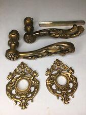 New listing Vintage Sherle Wagner Rococo Style Lever Door Handles w/Escutcheons #1008DOR