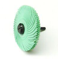 3\u201d dia. White Pack of 6 120 Grit Radial Bristle Disc