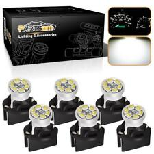 6xFor Chevy PC194 PC161 Instrument Panel Led Light Bulb Dashboard Sockets White