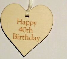 40th Birthday Wooden Gift Tag