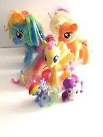 Lot of My Little Pony Ty Hasbro & Figures Rarity 2 Applejack Rainbow Dash ++