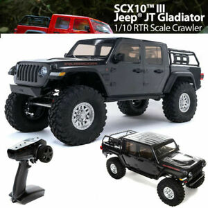 Axial AXI03006T1 1/10 SCX10 III Jeep JT Gladiator Rock Crawler Portals RTR Gray