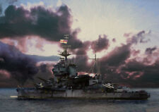 HMS WARSPITE - NORMANDY BROADSIDE - LIMITED EDITION ART (25)