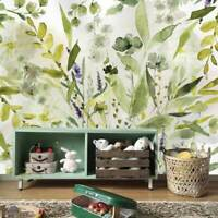 Olive Green Plant Wall Mural Paper Nursery Art Decor DIY Sticker Decal Gift B56