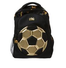 ⚽️ Smiggle Boys GOLD Backpack School bag Christmas Gift 🤩 BLACK BRAND NEW ⚽️