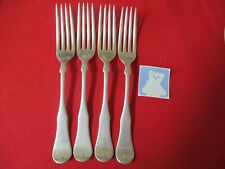 (4) 1847 Rogers Silverplate Dinner Forks, 19th Century Fiddle  Stock#Y-