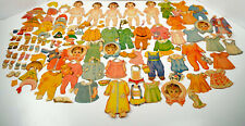 Paper Doll Collection Annette Marie Yvonne Cecile Emelie 100+ Piece Estate Lot