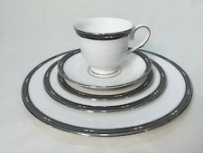 Lenox Diamond Solitaire 5 pc Place Setting, New Unused Dinner Plates Cup Saucer